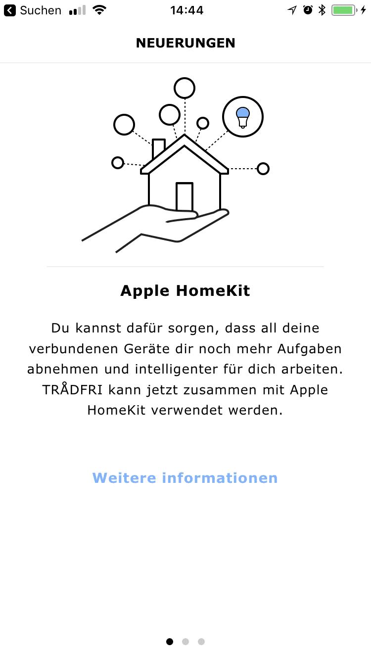 Gateway und Lampen müssen erst für HomeKit konfiguriert werden – dafür hält die App einen Code bereit.