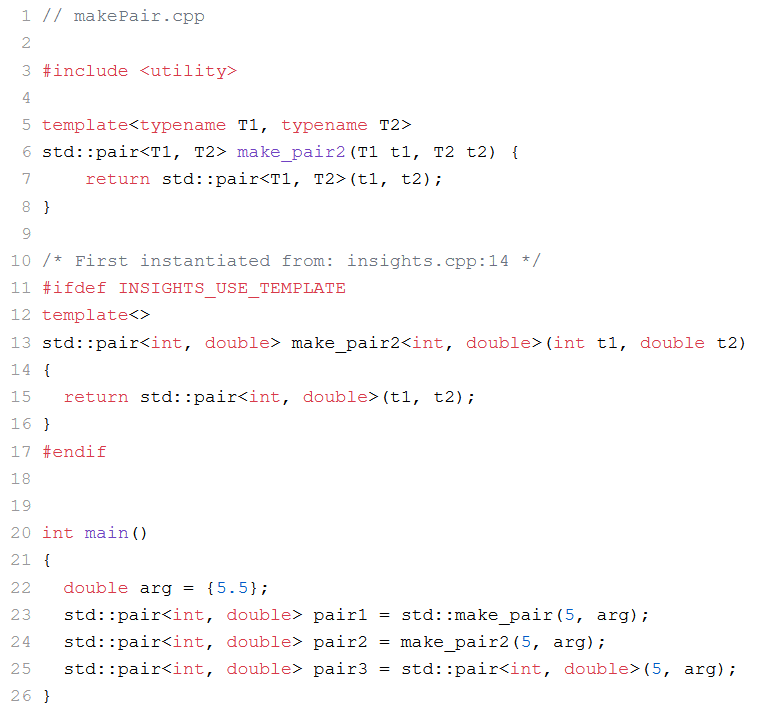 Die automatisch Bestimmung der Template Argumente von Klassen-Templates