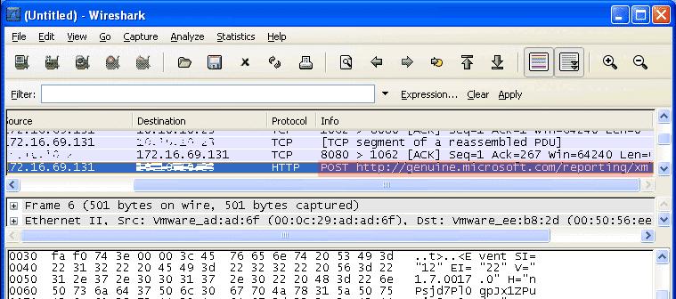 WGA-Abbruch Datenübertragung