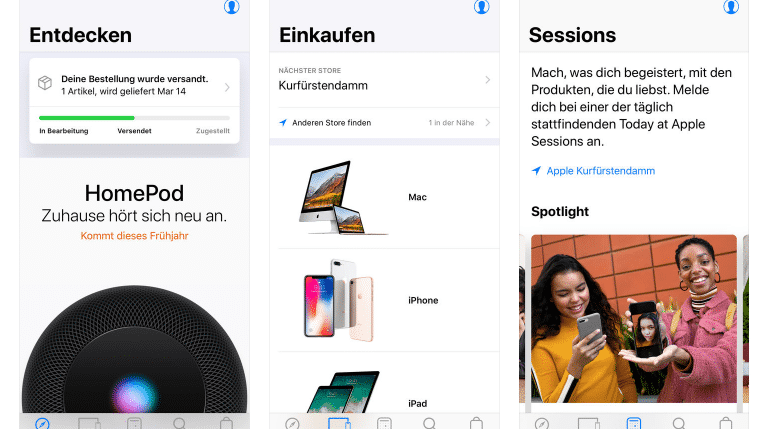 Apple baut E-Commerce-App um