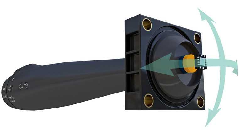 3D-Magnetometer mit SPI- und I2C-Schnittstelle