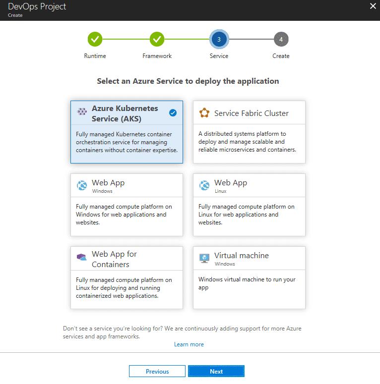 Entwickler können nun direkt die Azure Kubernetes Services (AKS) via DevOps Projects nutzen. (Bild: Microsoft)