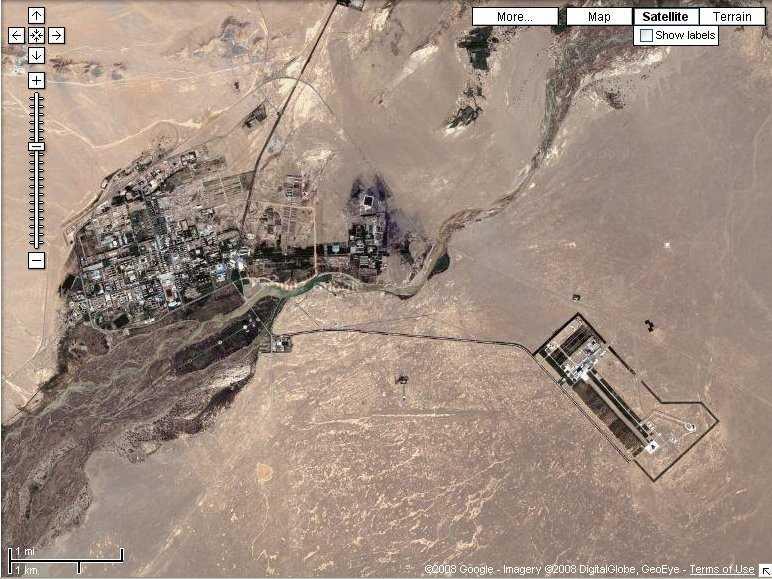 Das Jiuquan Satellite Launch Center in der chinesischen Provinz Gansu
