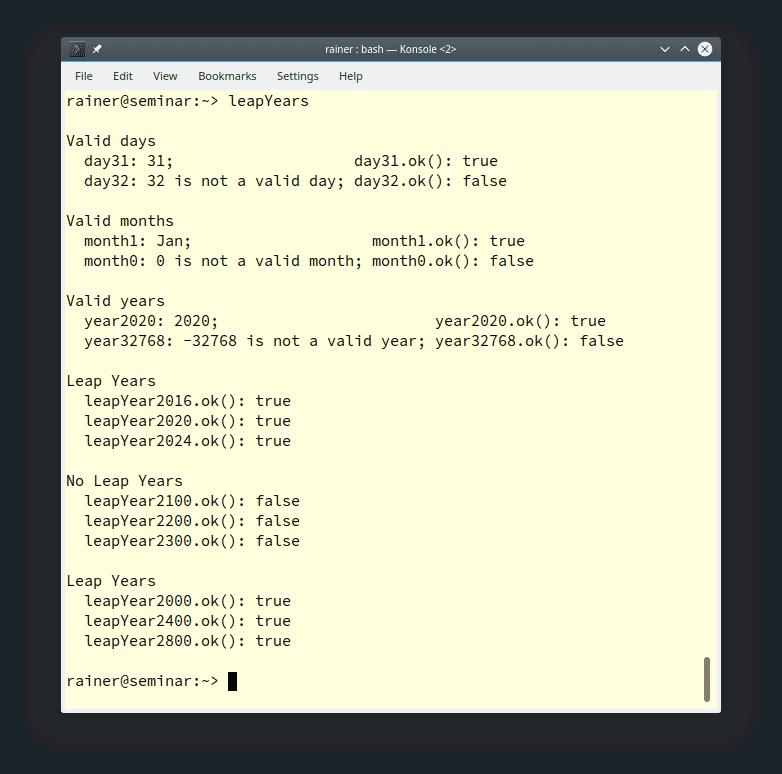 Kalender und Zeitzonen in C++20: Umgang mit Kalendertagen