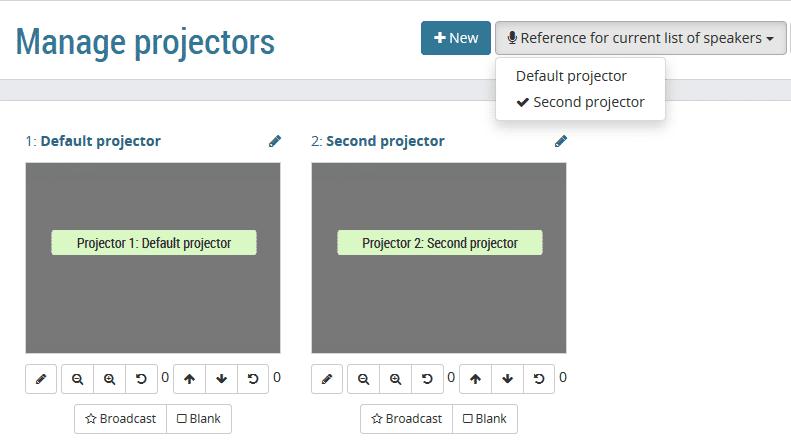 OpenSlides 2.1: Mit zwei Projektoren gleichzeitig präsentieren