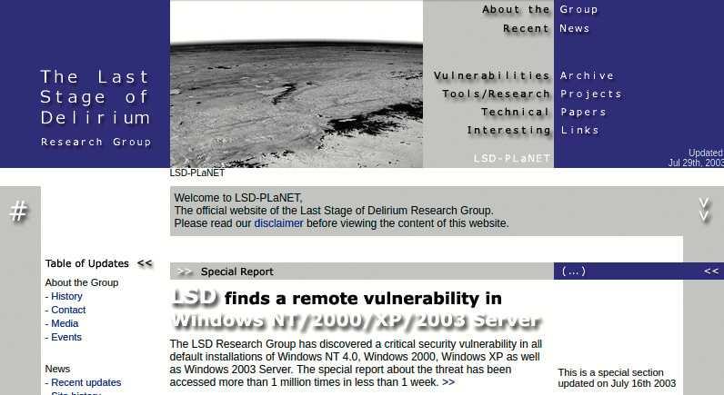 Die polnische Hackergruppe deckte die kritische Windows-Lücke auf, die Blaster ausnutzte. Später heuerte Microsoft sie an.