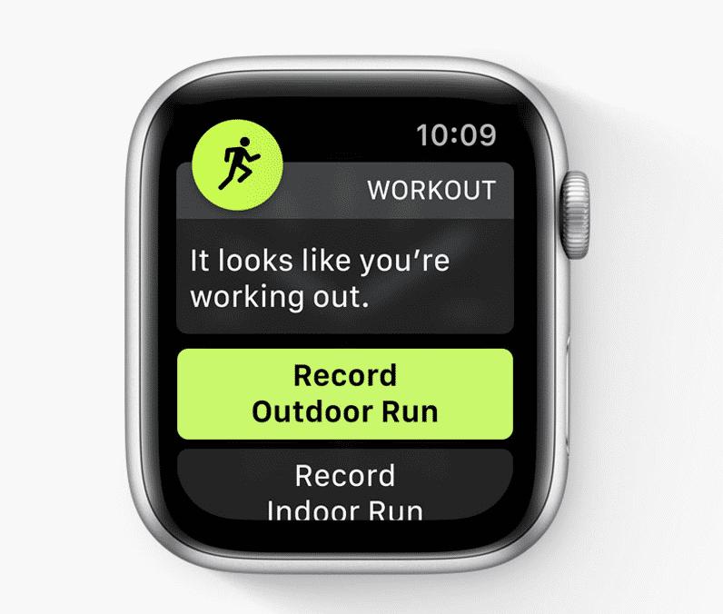 Bestimmte Bewegungsabfolgen soll die Apple Watch nun automatisch erkennen und das Starten einer Trainingseinheit anbieten.