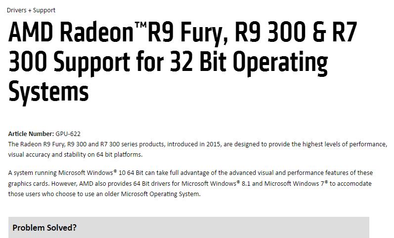 Treiber-Updates: Keine 32-Bit-Treiber mehr für aktuelle Radeon-Grafikkarten