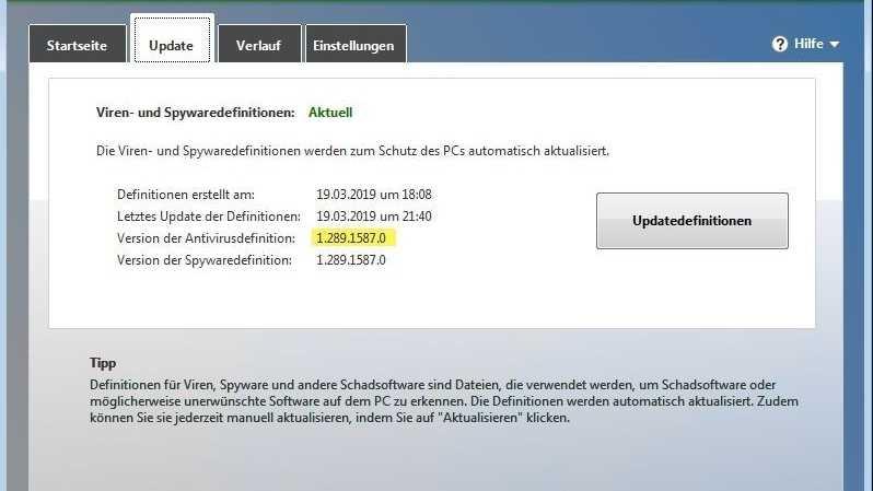 Microsofts Virenschutzlösungen SCEP/MSE/Defender am 19.3. für Stunden ausgefallen