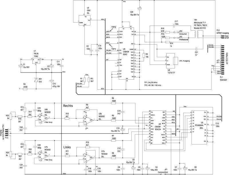 A/D-Wandler für das Vorverstärkermodul des c\'t-Lab | c\'t Magazin