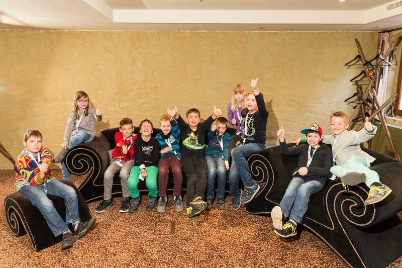 Die teilnehmenden Kids vom JavaLand4Kids