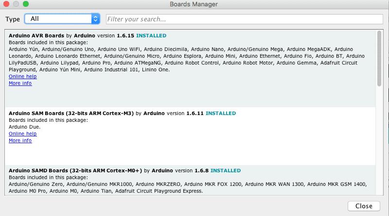 Im zweiten Schritt ist die Installation des Boardmanagers für ARM Cortex M3 Boards notwendig