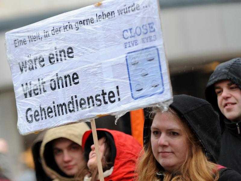 Demonstration gegen die Überwachung
