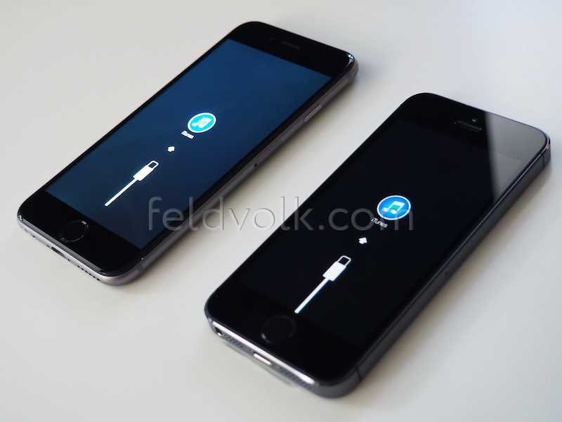 """Zusammengebautes """"iPhone 6"""" mit iTunes-Screen."""