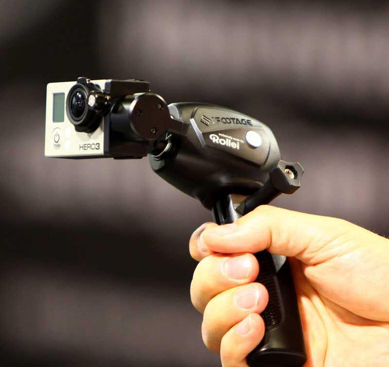 Gleicht Dreh- und Taumelbewegungen von GoPro3-ActionCams aus: Rollei eGimbal G1 (Foto: Markus Jatzkowski, Rollei)