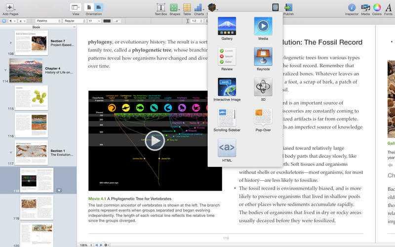 Mit iBooks Author lassen sich interaktive Bücher für iPad und Mac erstellen