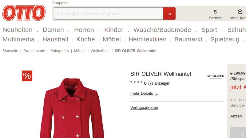 Nicht Volkswagen: Wer Domainnamen nur fast richtig eintippt, kann auf Shopping-Seiten wie diese umgeleitet werden oder sich sogar Schadsoftware einfangen.