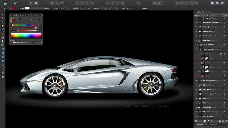 Vektorgrafik-Programm Affinity Designer nun auf Deutsch