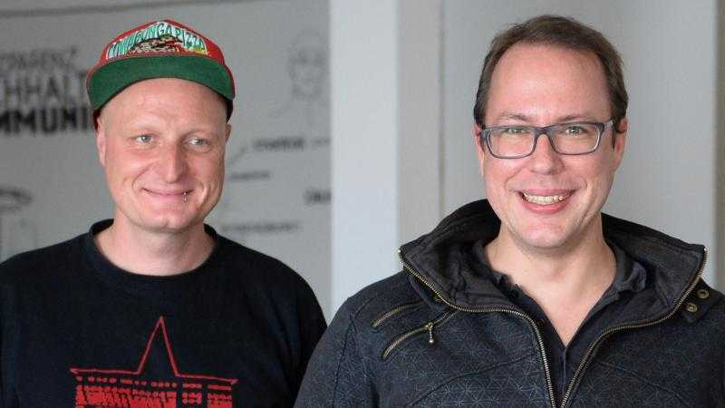 Andre Meister und Markus Beckedahl von Netzpolitik.org