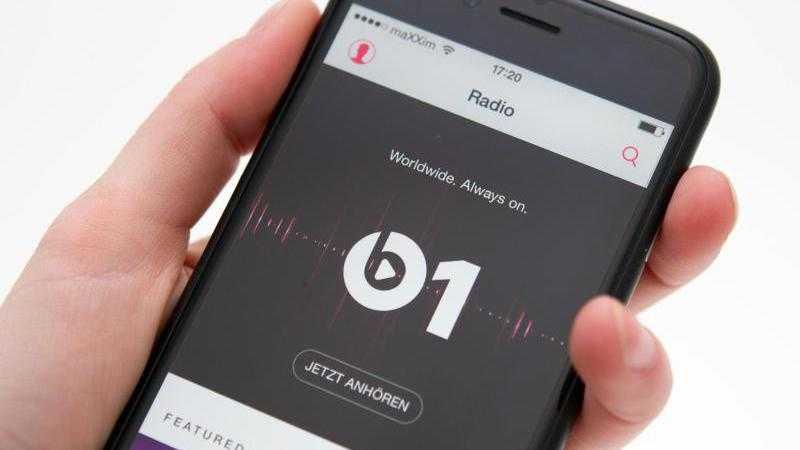 Apple Music mit Beats 1 auf einem iPhone.