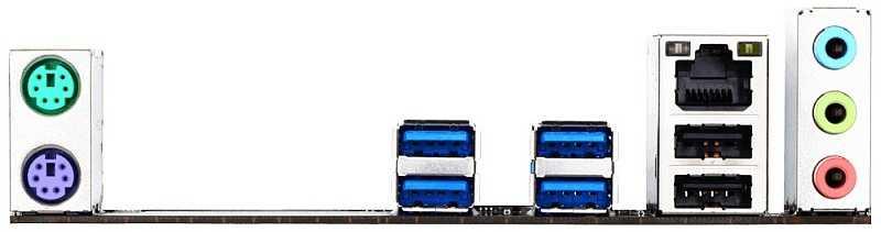 ATX-IO-Bereich des Gigabyte GA-X150M-Plus WS