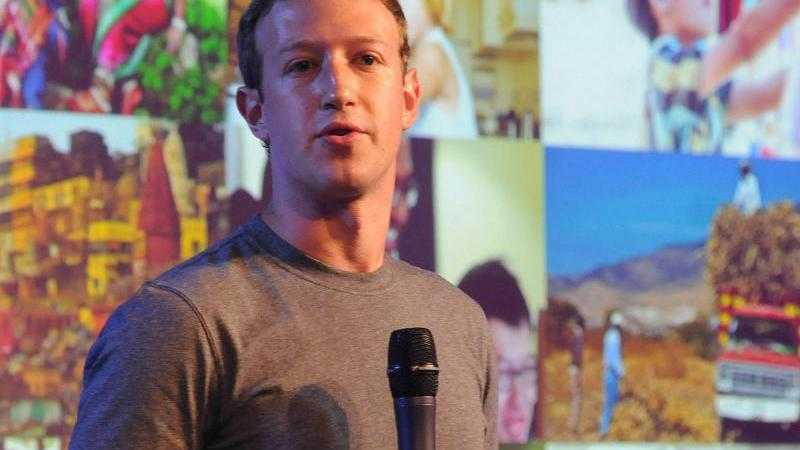 Mark Zuckerberg in Indien