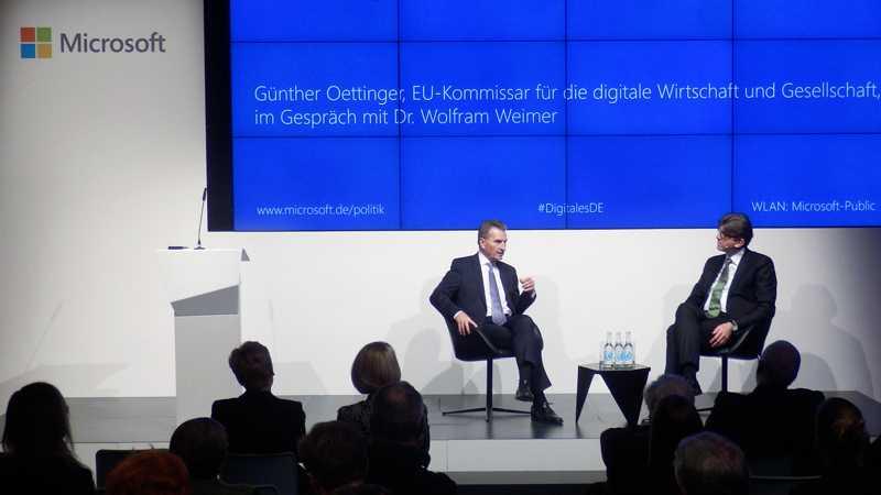 Oettinger: ?Wir sind beim Datenschutz hypersensibel?