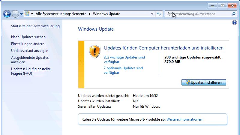 Convenience Rollup für Windows 7: Das Nicht-SP2