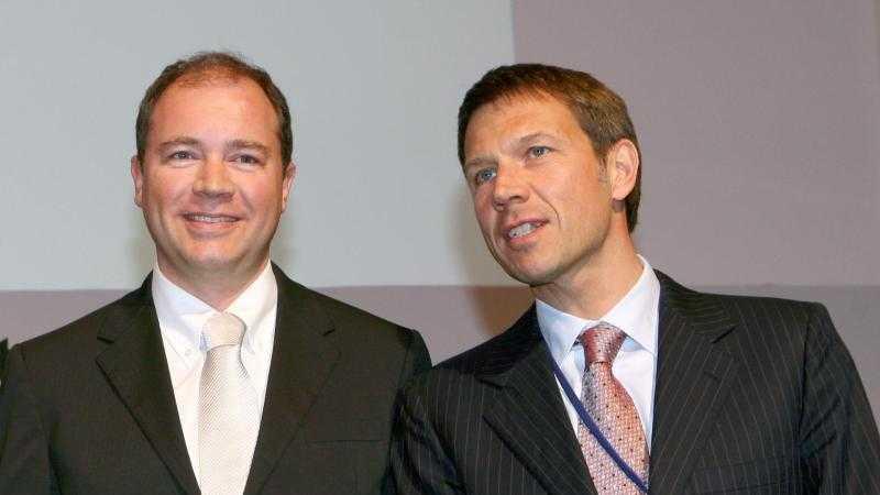 Ralph Dommermuth und Rene Obermann