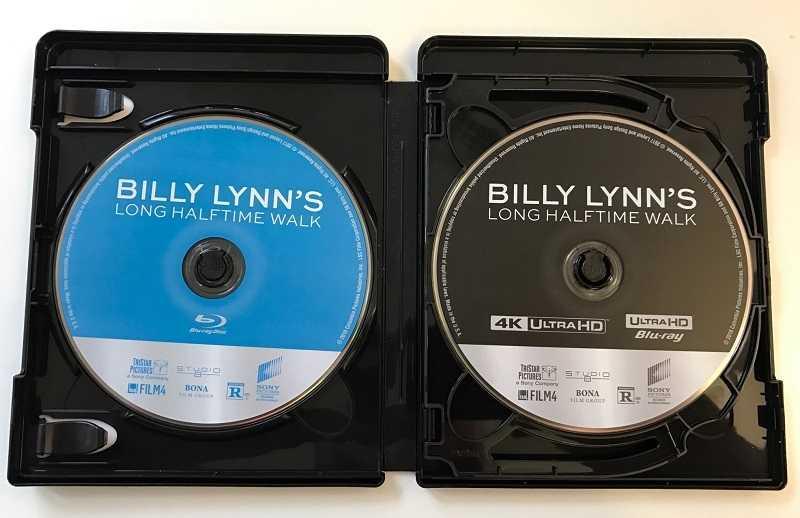 """Der Ultra HD Blu-ray von """"Billy Lynn"""" liegt auch eine 2D- und eine 3D-Blu-ray bei."""