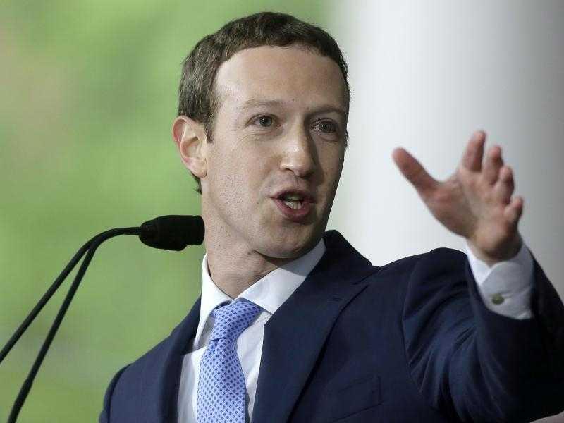 Mark Zuckerberg hält Rede