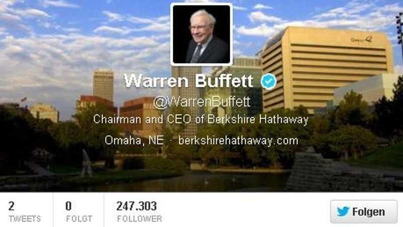 Warren Buffett twittert
