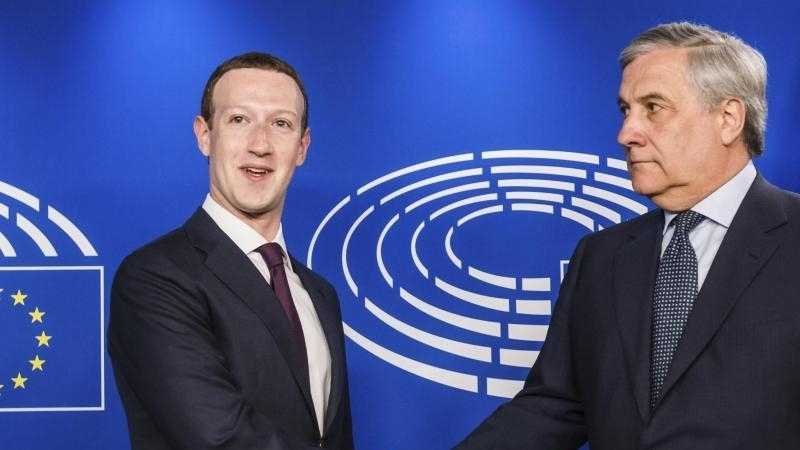 Facebook-Chef Zuckerberg im EU-Parlarlament