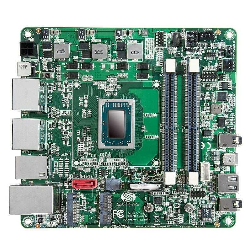 Mini-STX-Mainboard Sapphire FS-FP5V mit AMD Ryzen Embedded V1000