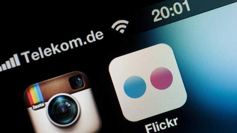 Instagram und Flickr