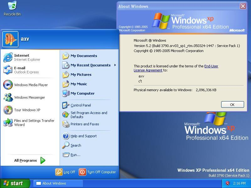 Windows XP Professional x64-Edition RTM