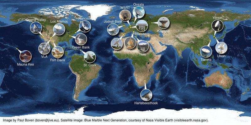 Paul Boven (boven@jive.eu). Satellitenbild: NASA