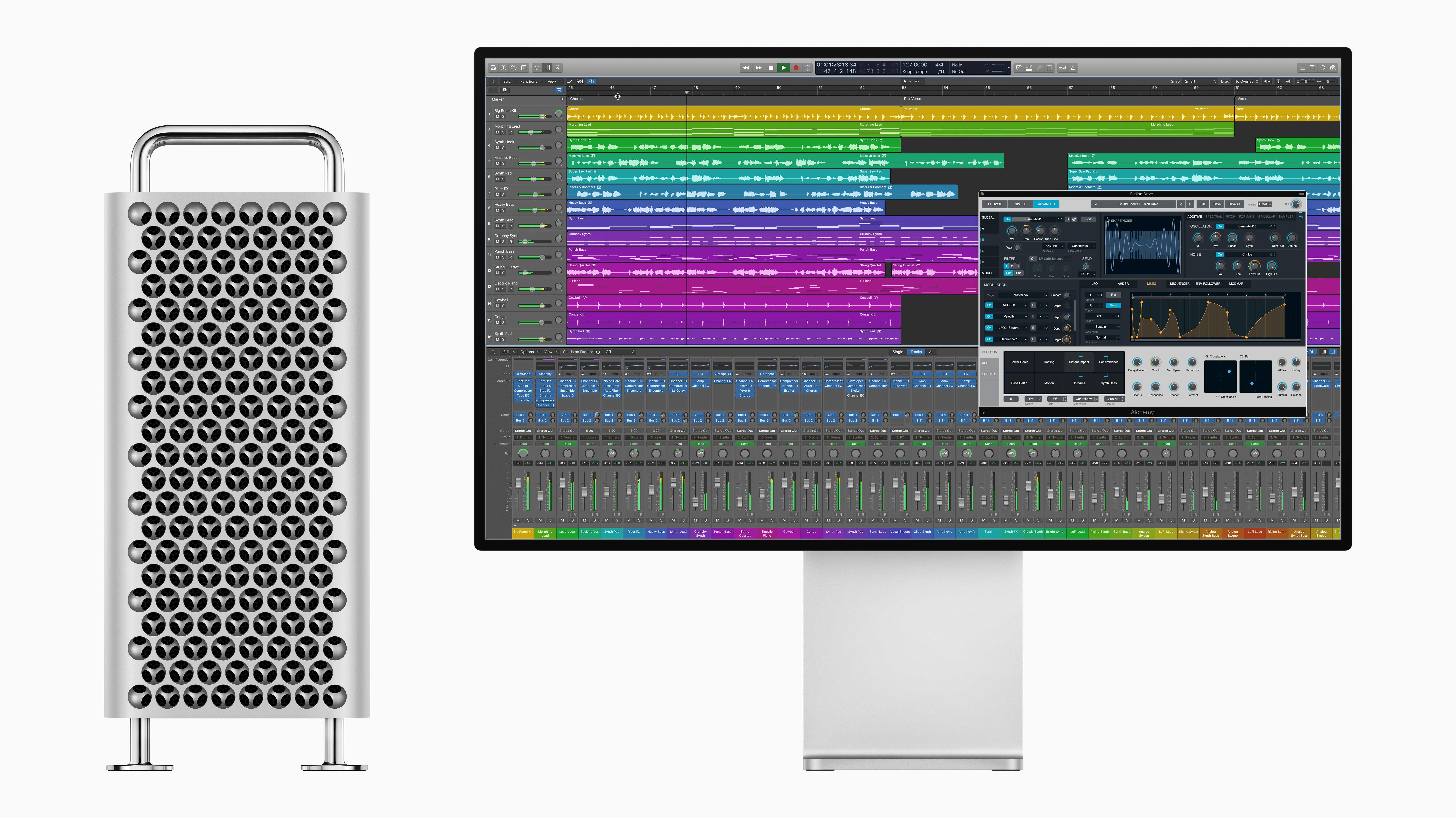 Logic Pro X unterstützt Riesenprojekte mit bis zu 1000 Spuren