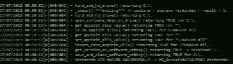Logfile der Malware