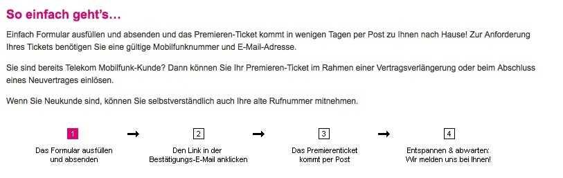 Telekom Startet Premieren Ticket Aktion Auch Für Neues Iphone