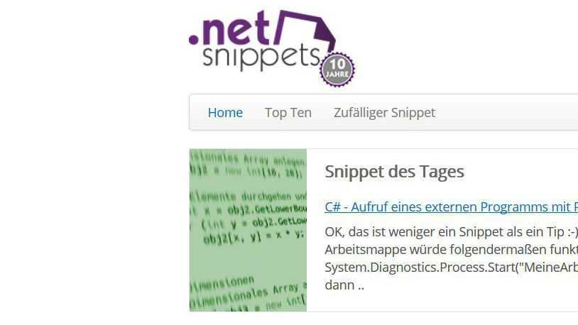 dotnet-snippets.de feiert zehnjähriges Bestehen mit Gewinnspiel