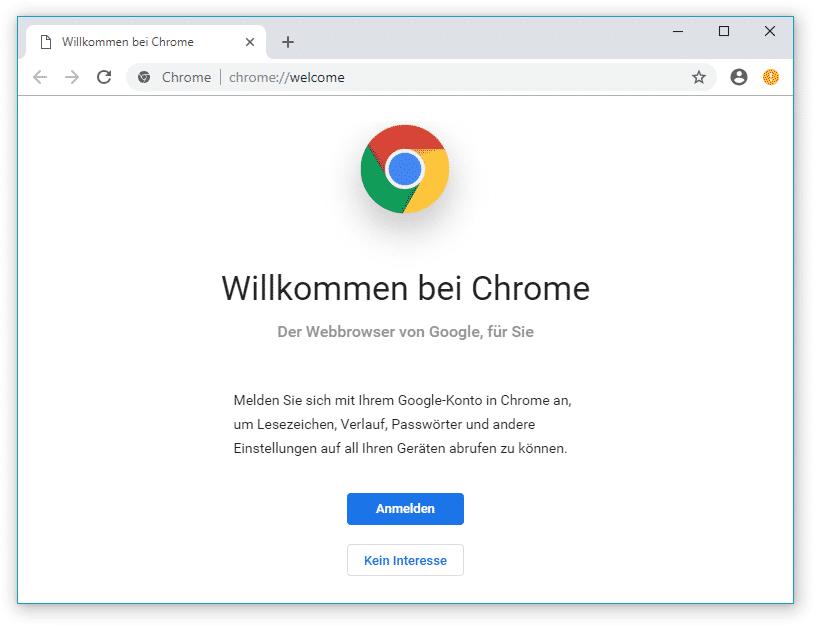 Mehr Weiß, abgerundete Tabs und Adressleiste: Die neue Bedienoberfläche von Chrome.
