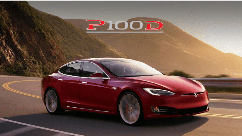 Roter Tesla