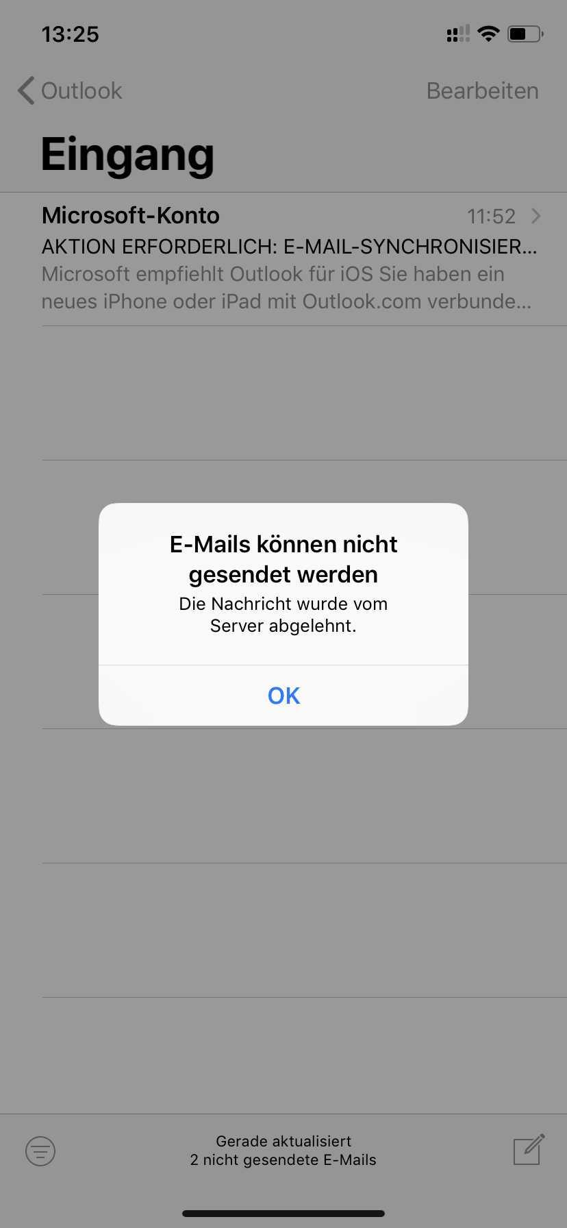 Outlook-Blockade