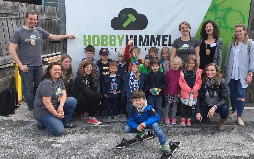 Kinder und Betreuer_innen am Kinder-Kunst-Tag 2018 im Hobbyhimmel Stuttgart