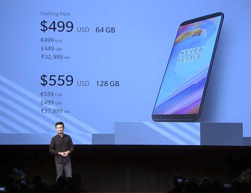 Die Preise des OnePlus 5T