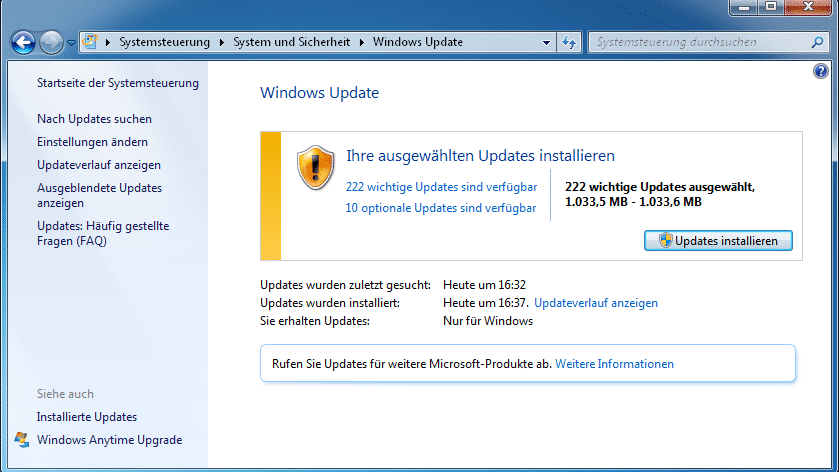 Windows 7 und 8.1: Updates künfitg als kumulative Rollup-Pakete