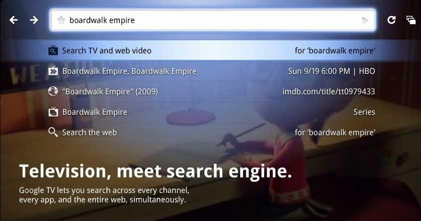 Google TV soll Fernsehen und Web nahtlos integrieren, war aber bislang nicht besonders erfolgreich