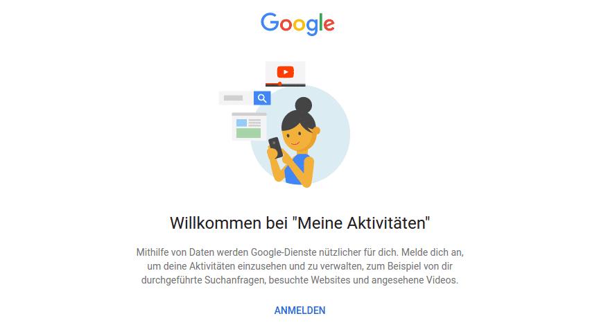 Google bittet Sie um mehr persönliche Daten