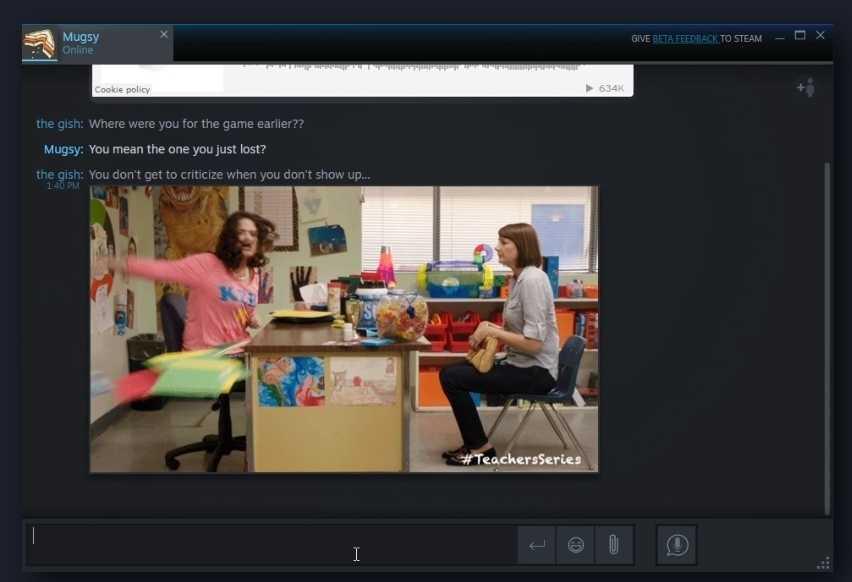 Im neuen Steam-Chat lassen sich Bilder und Videos einbinden.